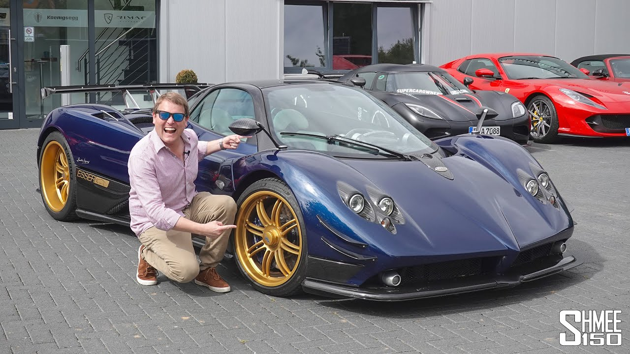 Driving a Pagani Zonda F at 200mph on the Autobahn FLAT OUT!