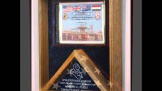 Retirement Flag, Military Ceremonial Flag Display Cases, Military Medals Case