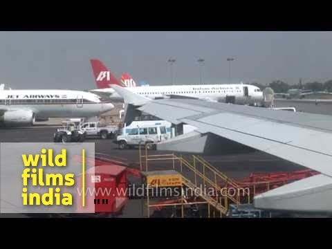 Indian Airlines and Jet Airways at IGI Airport, Delhi