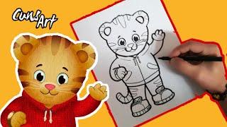COMO DIBUJAR A DANIEL TIGRE / how to draw  daniel tiger`s neighborhood
