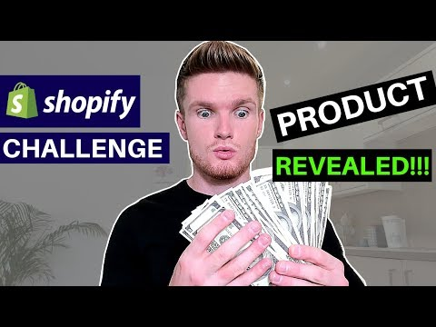 (Day 3) SHOPIFY CHALLENGE $0-$1000 - WINNING PRODUCT REVEALED | SHOPIFY DROPSHIPPING 2019 thumbnail