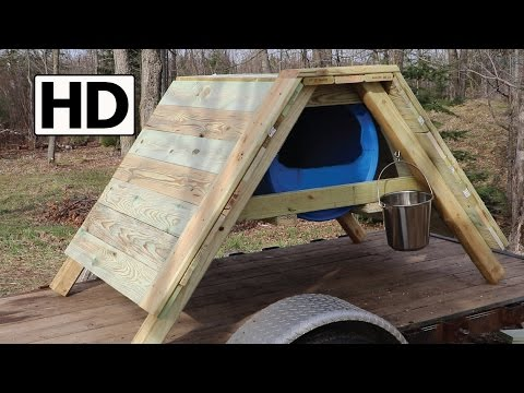 How to Build an A-Frame Sled Dog House // Detailed Construction