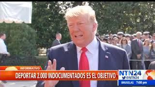 Trump precisa que redadas anunciadas serán contra inmigrantes ilegales que cometen crímenes