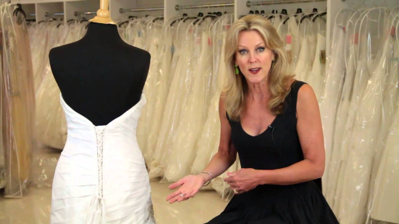 How To Put A Corset Back In A Wedding Dress : Wedding Dresses U0026 Bridal  Attire   YouTube