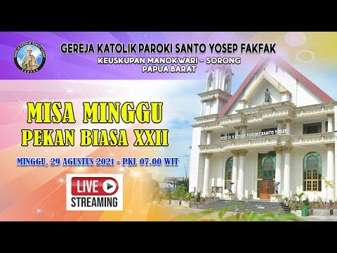 LIVE STREAMING - MISA HARI MINGGU 29 AGUSTUS 2021 DARI GEREJA KATOLIK PAROKI SANTO YOSEP