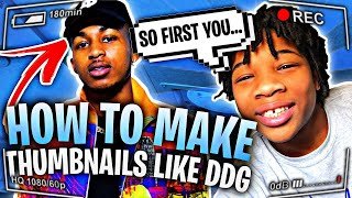 HOW TO MAKE THUMBNAILS LIKE DDG ON IPHONE!
