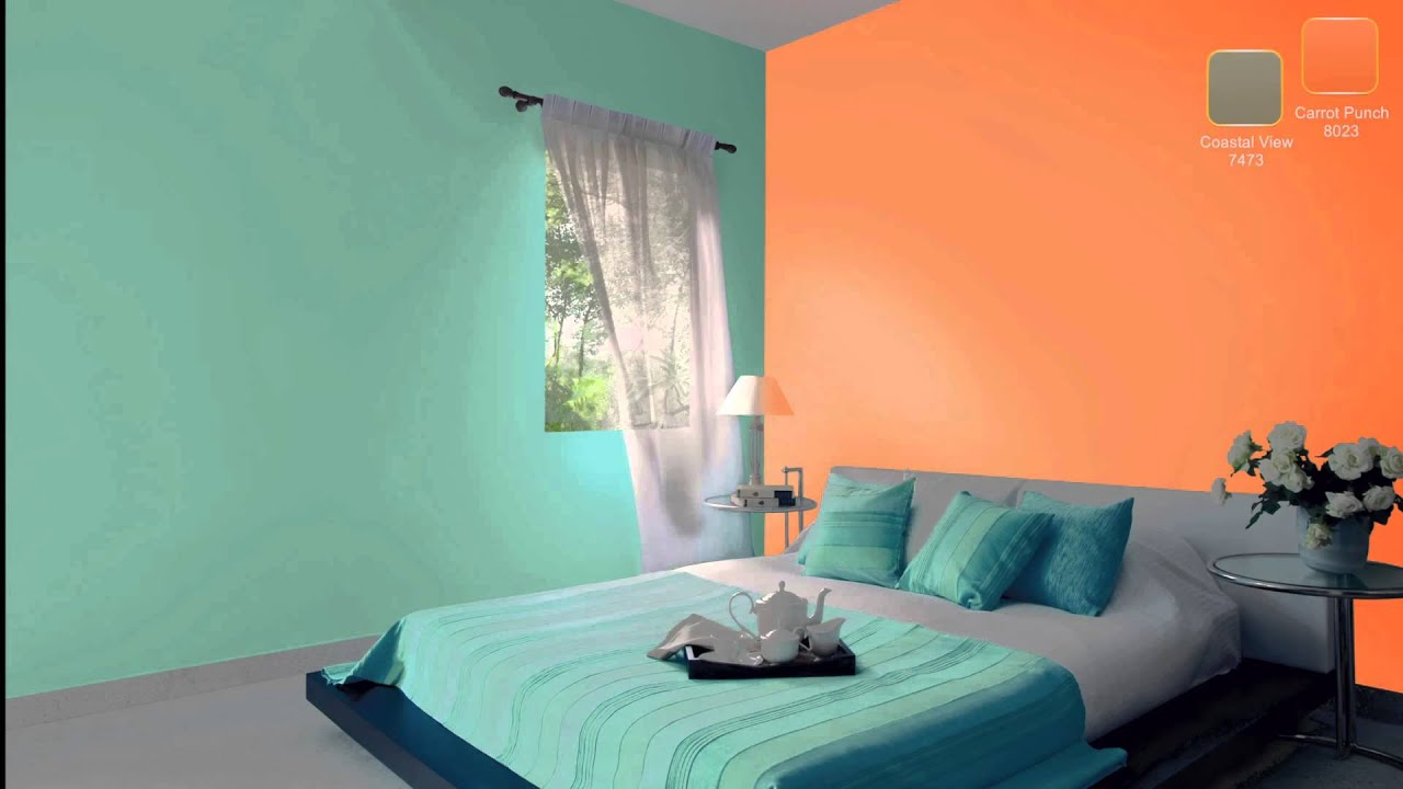 Orange Bedroom Interior Design