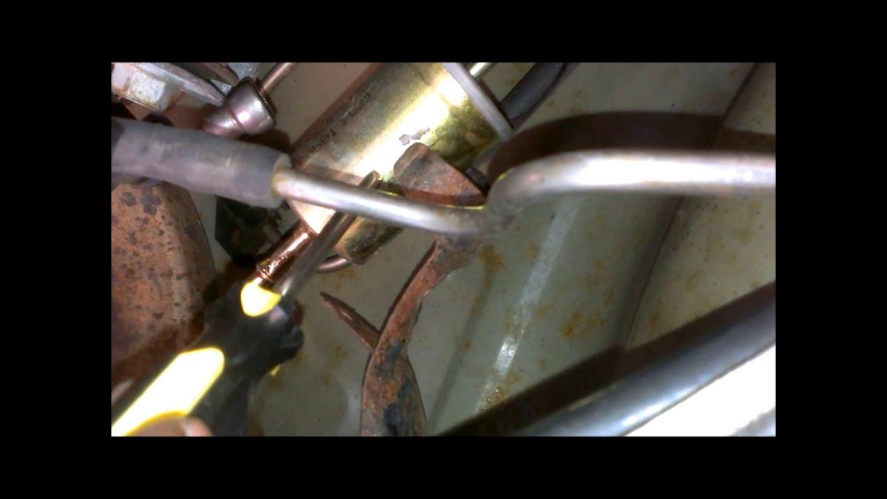medium resolution of mustang fuel pump fuel filter gas tank removal procedure