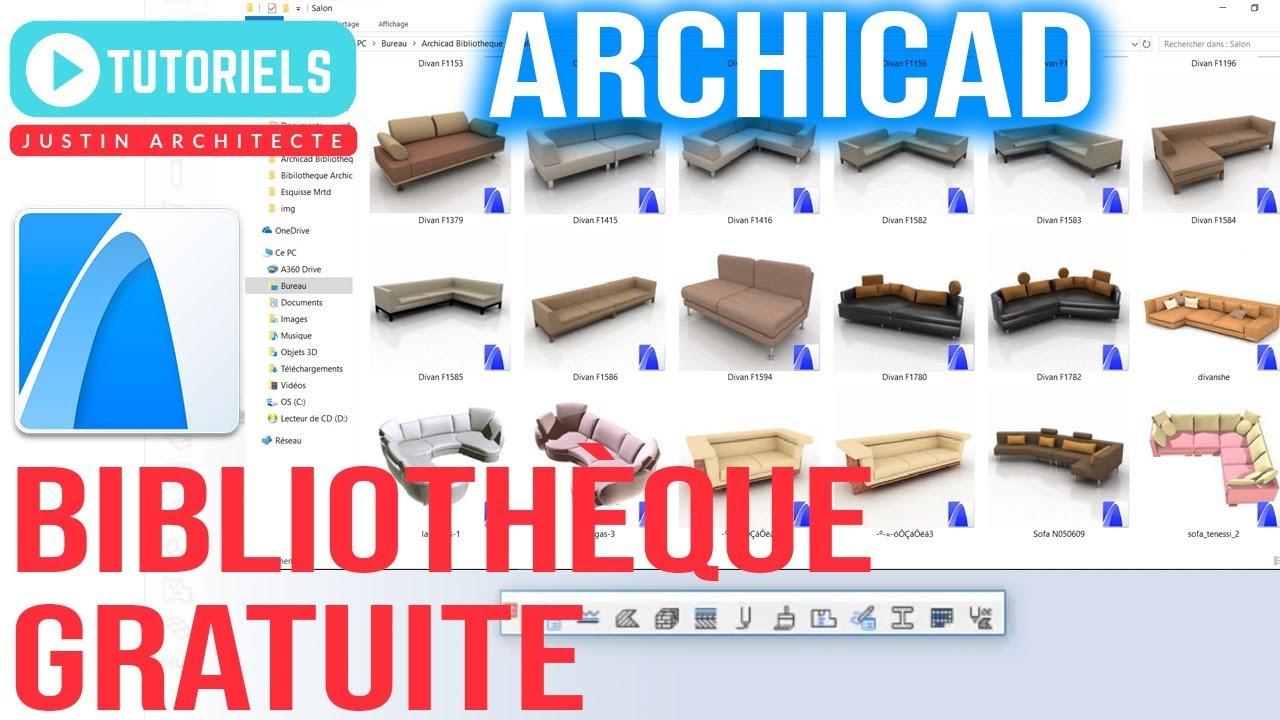 BIBLIOTHEQUE 12 GRATUITEMENT ARCHICAD TÉLÉCHARGER GRATUIT