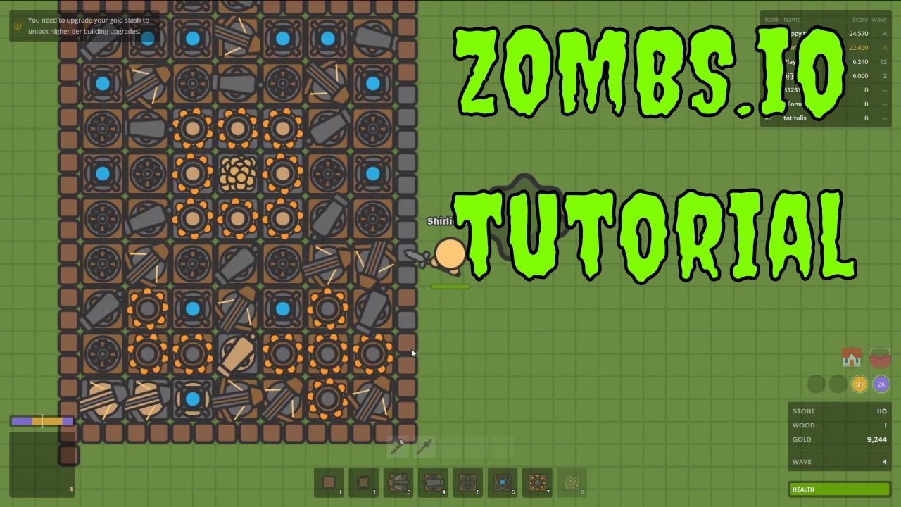ZOMBS.io Tutorial - Zombie base building - Let's Play ...