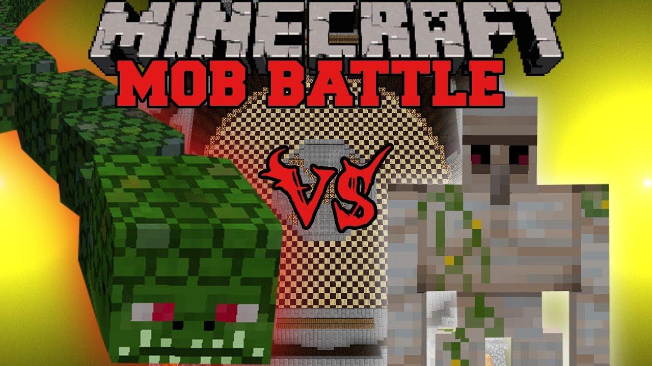 Iron Golem Vs Naga Minecraft Mob Battles Twilight Forest Mod Youtube
