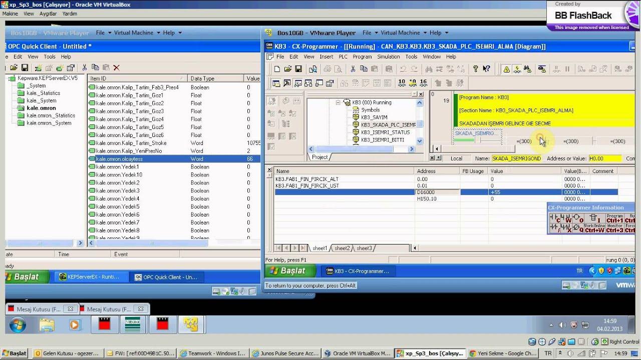 Kepware OPC Server - Omron Plc
