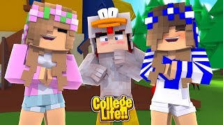 OUR FIRST PRANK IN COLLEGE!   Minecraft College Life   Little Kelly