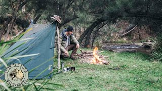 Wild Bushcraft Camp By Australian River