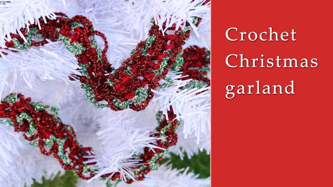 Crochet Christmas garland tutorial - YouTube