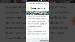 One United BANK....Black Own Bank
