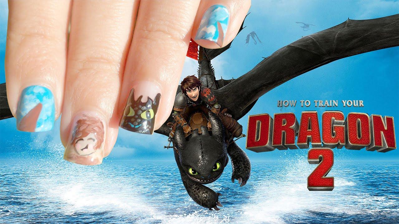 Nail Art Diseño De Uñas Cómo Entrenar Tu Dragón 2 Youtube