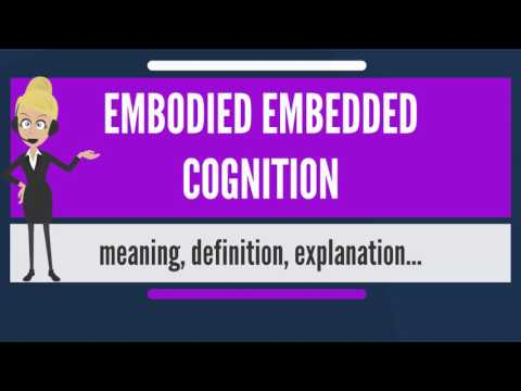 What is EMBODIED EMBEDDED COGNITION? What does EMBODIED EMBEDDED COGNITION mean?