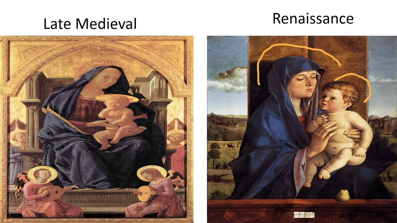 comparing medieval and renaissance paintings Medieval art vs renaissance art by abigail satow intro art has always been a massive part of culture it's used for expression, reminders, religious purposes, and much more.