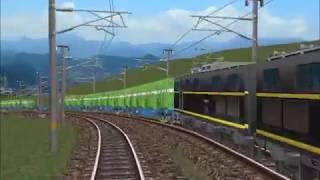 新VRM3★仮想越河駅レイアウトNo186電車その58 52系流電