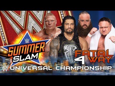 WWE Summerslam 2017 - Brock Lesnar vs...