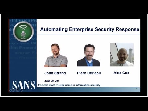 Automating Enterprise Security Response