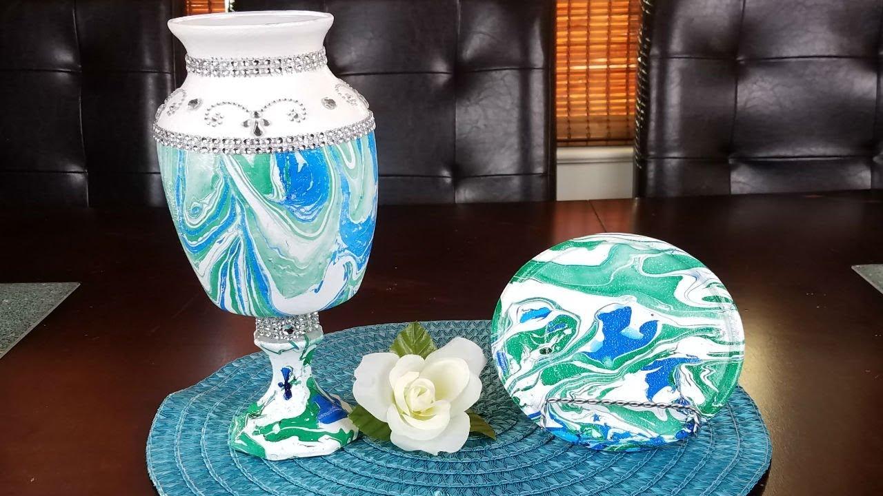 DIY Marble Vase Centerpiece DIY Marble Vase
