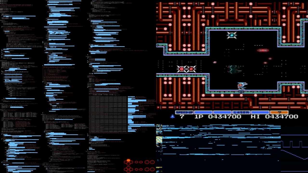 Live tracing a NES emulator  Game: Gradius