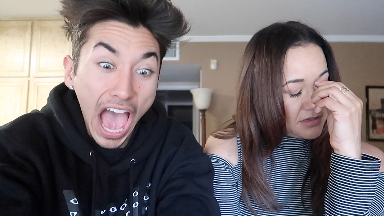 Reacting To Dirty Videos With My Mom - Youtube-9872