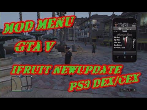 MOD MENU iFruit v3 0 GTA V TOP PS3 1 27/1 28 DEX/CEX BLES/BLUS +DOWNLOAD