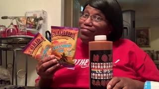 UNBOXING OF THE LLIPS HOT SAUCE AND THE FLORIDA CRAB AND SHRIMP BOIL SEAFOOD SEASONING!!