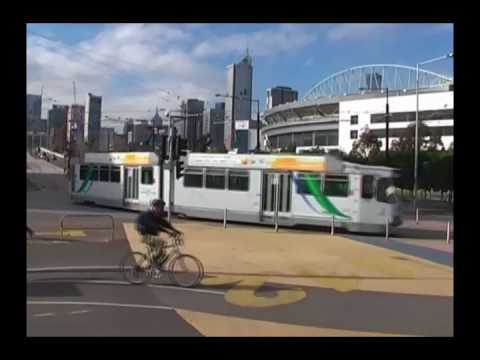 Melbourne Docklands Trams July 2008 - So much has changed.