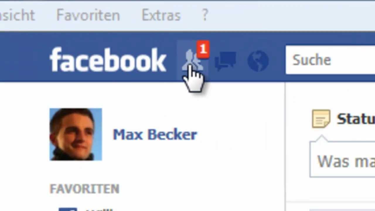 FIT IM NETZ: Freundschaftsanfrage bei Facebook bestätigen