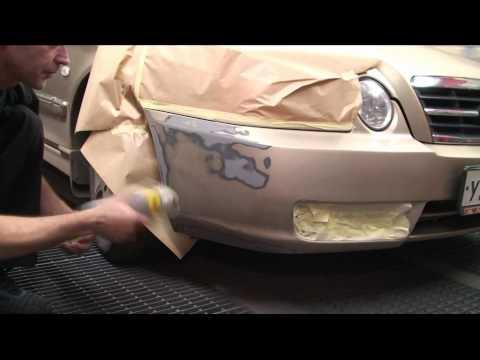 видео: Покраска бампера с помощью аэрозолей