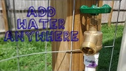 Add a Water Spigot Anywhere in Your Yard!