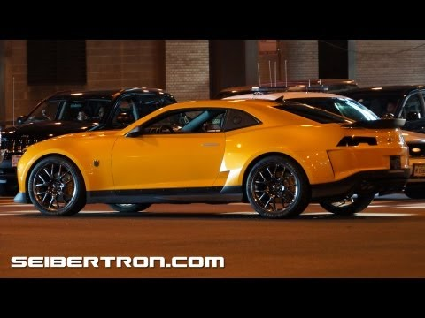 Transformers 4 Age of Extinction filming in Chicago: Bumblebee Camaro 2014