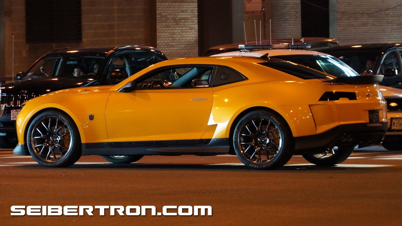 Transformers 4 Age Of Extinction Filming In Chicago Bumblebee Camaro 2014 Youtube