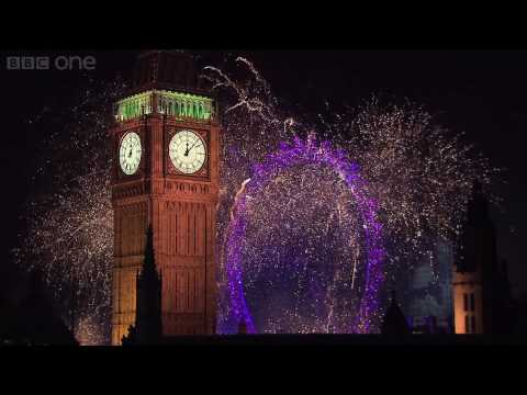 London Fireworks on New Year's Day 2007 - New Year Live - BBC One