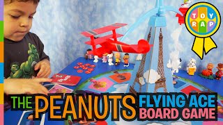 The Peanuts Movie SNOOPY FLYING ACE BOARD GAME Unboxing Review ft  Peanuts Snoopy by Toy Rap