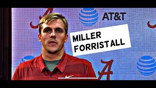 Miller Forristall talks Alabama offense, new tight ends, and says he's healthy