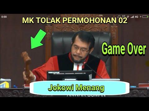 Detik-detik Putusan MK, Jokowi menang sidang Sengketa Pilpres 2019