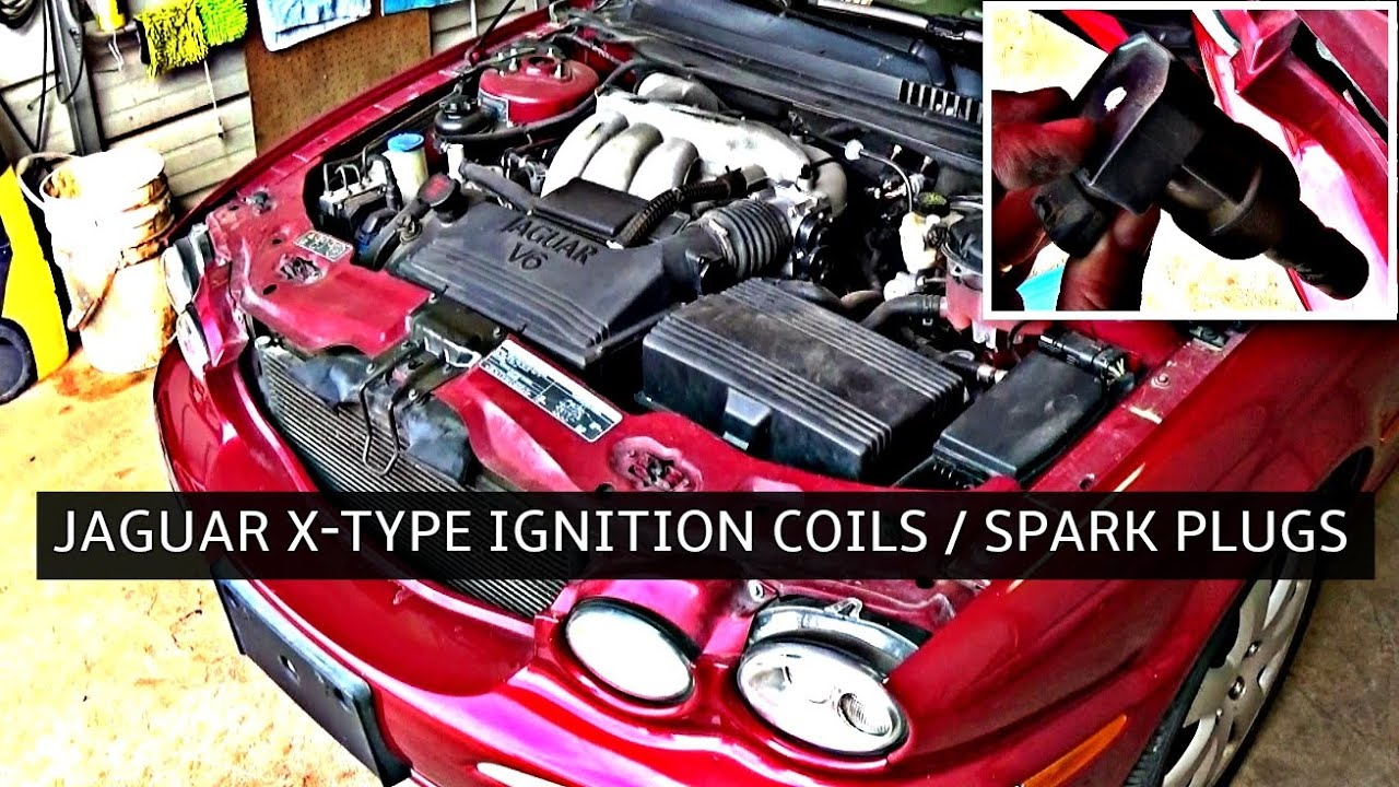jaguar x type ignition coil and spark plugs replacement [ 1280 x 720 Pixel ]
