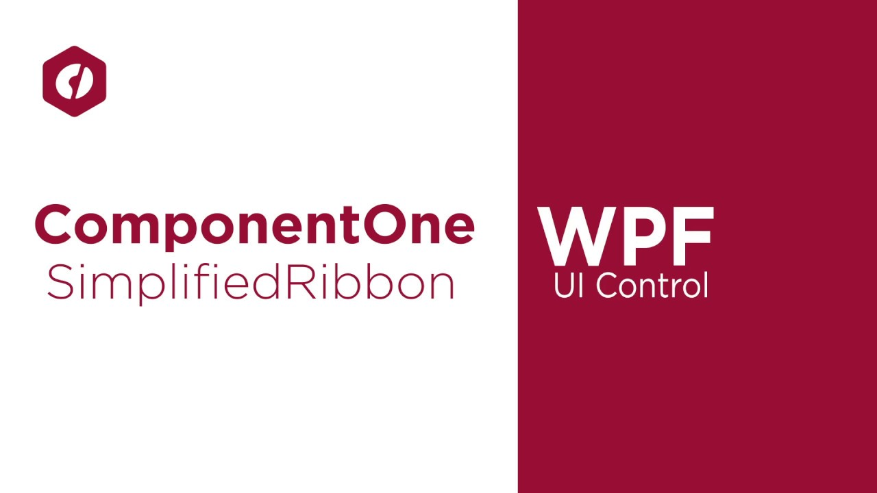 Introducing the WPF Simplified Ribbon Control (Video) | ComponentOne