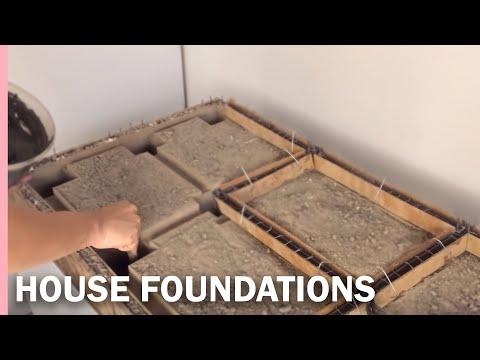 HOW  TO MAKE the FOUNDATIONS of a HOUSE —- como hacer los CIMIENTOS de una casa
