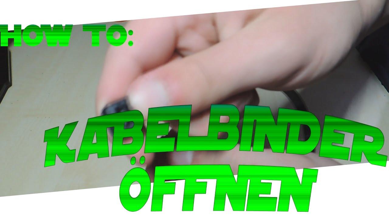 HOW TO: Kabelbinder öffnen (Ohne Beschädigung) - YouTube