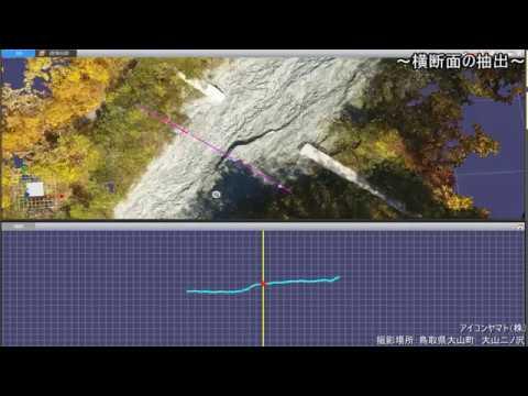【UAVによる3D点群】鳥取県大山町 大山二ノ沢