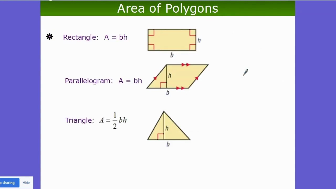 how to find the area of all polygons