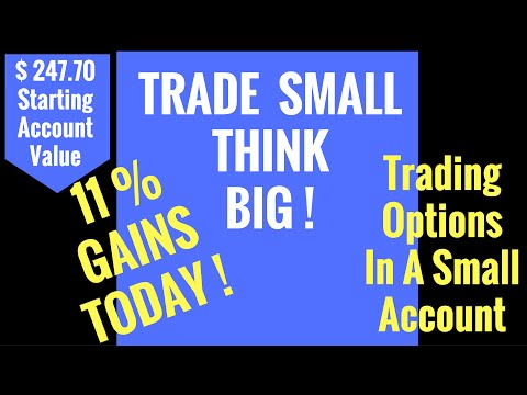 Day 1   + 70.oo  Trading A Small Account Of $625.26  Using Options