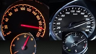 Mazda CX 5 vs Opel Antara Acceleration 0-100 / 0-200 / top speed test