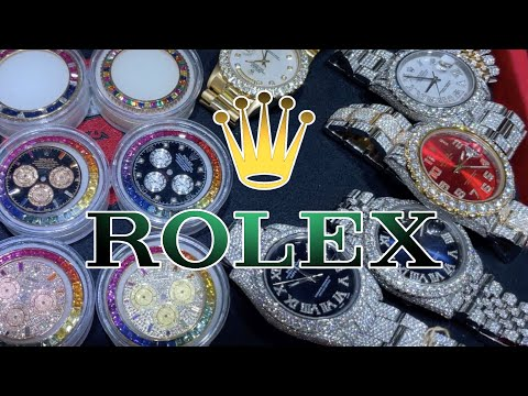 Choose Your ROLEX Watch ! Saphire BEZELS and PRICE Diamond CHAINS !